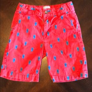 Children's Place red/blue pineapple shorts sz 5